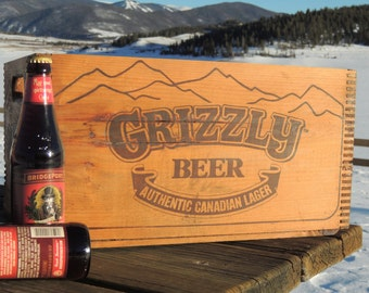 Grizzly Beer Vintage Crate- Custom Copper Cooler