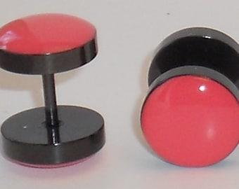 Coral Pink Fake Plugs