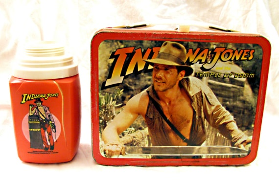 Indiana Jones & the Temple of Doom Vintage 1984 Metal Lunch Box with Thermos