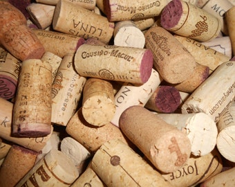 100 Used Wine Corks Natural Wine Corks Red and White, bulk wine cork, Wine Cork for Crafts