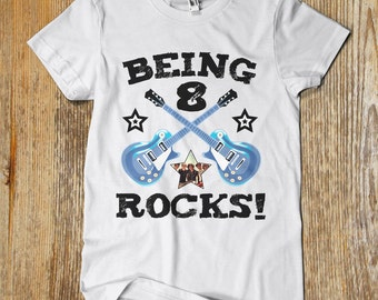 "CUSTOM printed ""Group of 10 Being X Rocks"" t shirt. One of a kind"