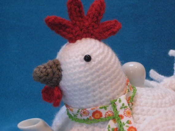 Chicken Tea Cosy Knitting Pattern Free : Crochet PATTERN Chicken Teacosy Tea Cozy Animal by Millionbells