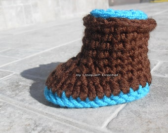 Toddler & Kids boots crochet pattern-PDF-Permission to sell finished item