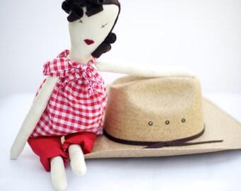 SALE-Cloth Rag Doll -  E C O  -  F R I E N D L Y