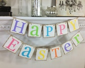 Happy Easter Decoration - Happy Easter Banner- Easter Banner - Easter Garland