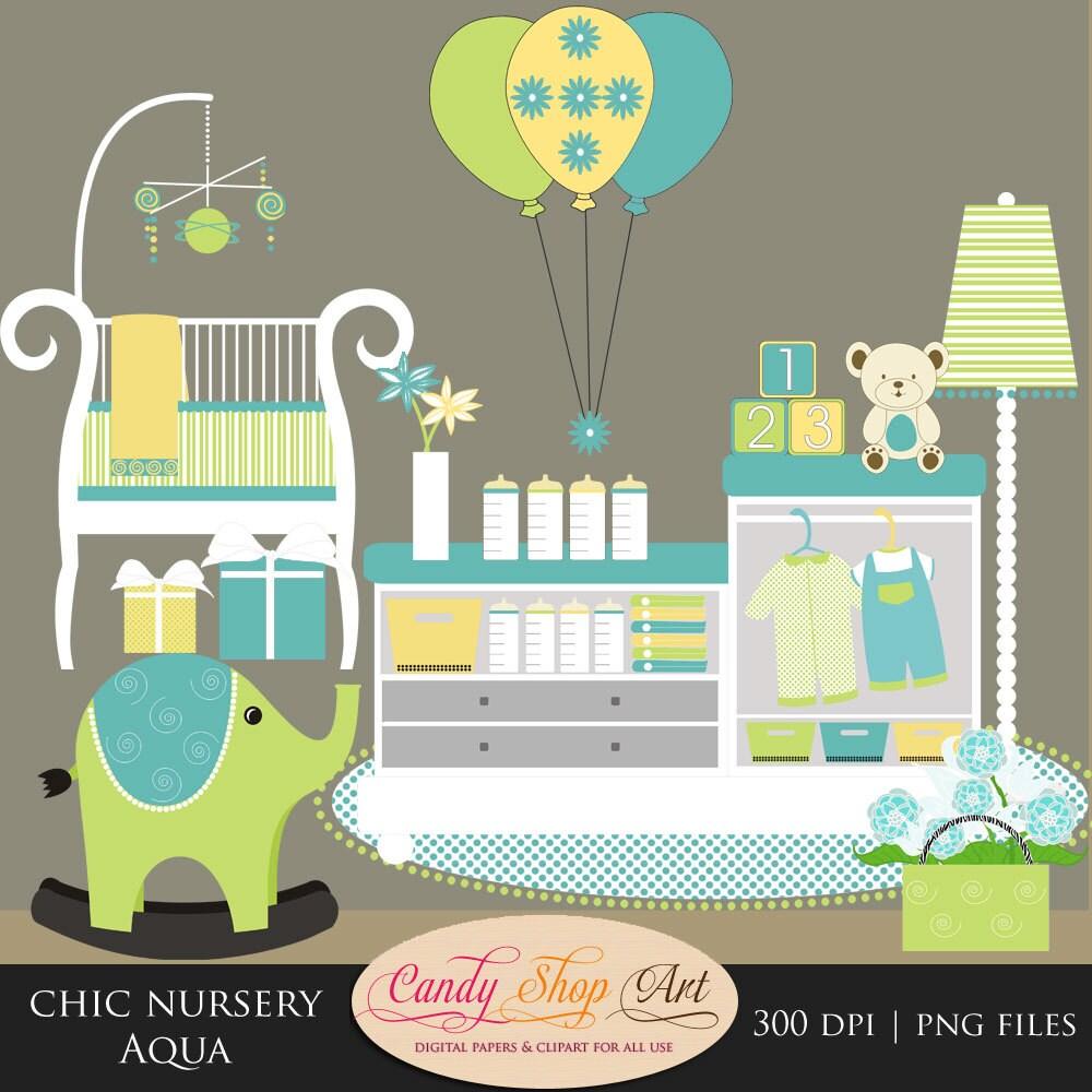 Baby Nursery Clip Art Baby Shower Clipart Baby Furniture