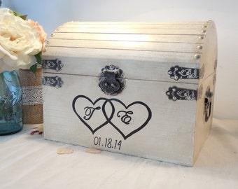 Wedding Card Box - Rustic Wedding Card Box - Rustic Wedding Decor - Advice Box - Guestbook- Memory Box - Time Capsule