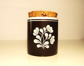 SALE Vintage Pottery Canister / Jar / Box with Cork Lid Waechtersbach