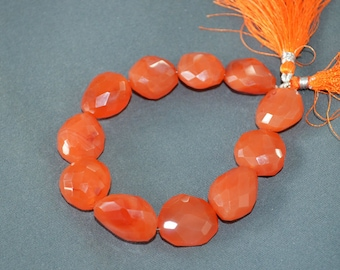 Carnelian Nuggets Faceted ,8.5 inch strand ,18x20 to 20x21 mm