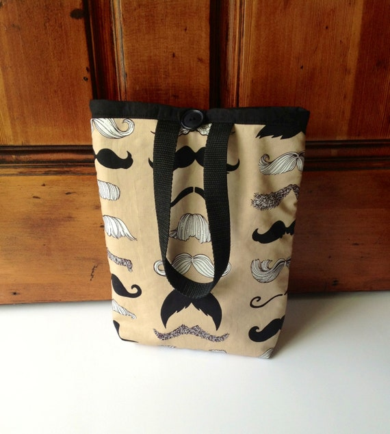 Mustache Lunch Bag Tote