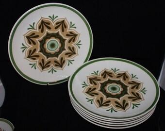 Middlebury dinner plates ,Royal China Cavalier Ironstone, Set of six