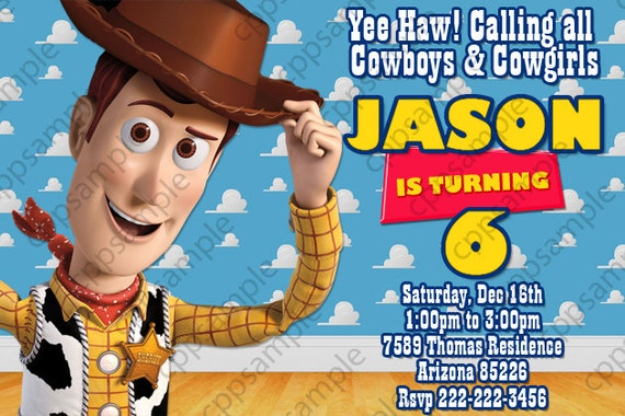 Personalized Toy Story Invitations as beautiful invitation sample