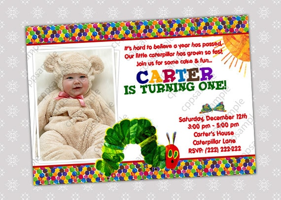 very hungry caterpillar birthday invitation by creativepartypixels. Black Bedroom Furniture Sets. Home Design Ideas