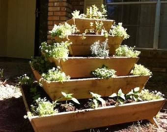 Mothers day special!! Assembled Pyramid Planter, herb garden, strawberry planter, vertical garden, planter, raised garden, school project