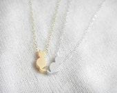 Kiki - kitty cat necklace, simple everyday wear, minimalist jewelry