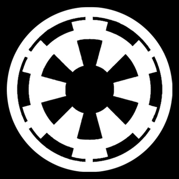 Star Wars Galactic Empire Logo 8 White Vinyl Decal