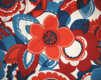 GLORIOUS  Vintage 1970's MOD  Hippie UPHOLSTERY Screenprint  Fabric