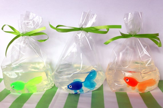 fish in a bag soap 12 party favors by craftthatparty on etsy