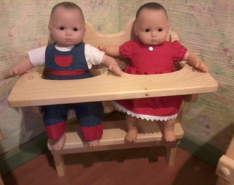 dolls double highchair, for dolls like bitty twins