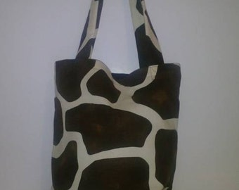Giraffe Brown Print Tote Bag