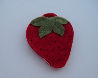 Felt Strawberry Needlebooks