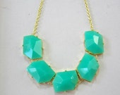 Turquoise bubble necklace, cute gemstone necklace/statement necklace/ bib necklace/Holiday party / gift ideas/birthday