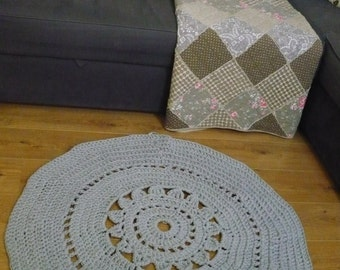 Grey crochet carpet SALE!