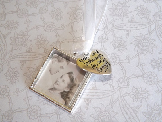 wedding bouquet memorial photo charm wedding bouquet charm picture
