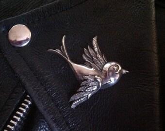 Classic  Old School Tattoo Swallow Brooch