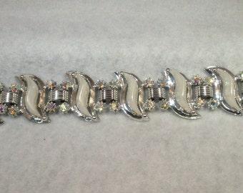 White and Ab Bracelet