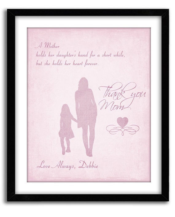 Personalized Mothers's Day Gift Birthday Gift For Mom