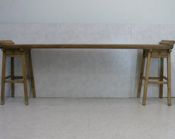 Wood Painter's Table in Three Sections