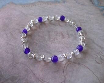Pretty nice dark purple agate bracelet