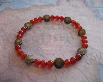 Red carnelian bracelet