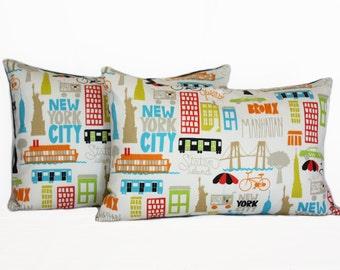 New York  baby Pillow cover. NY pillow, baby pillow, skyline pillow,children pillow, modern baby pillow, boy pillow cover
