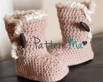 Crochet Toddler Slipper Pattern  Instant download #11