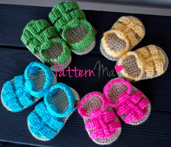 Crochet Baby Sandals Pattern Boy or Girl 9