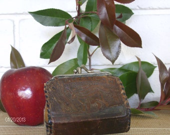 Vintage Leather Change Pouch