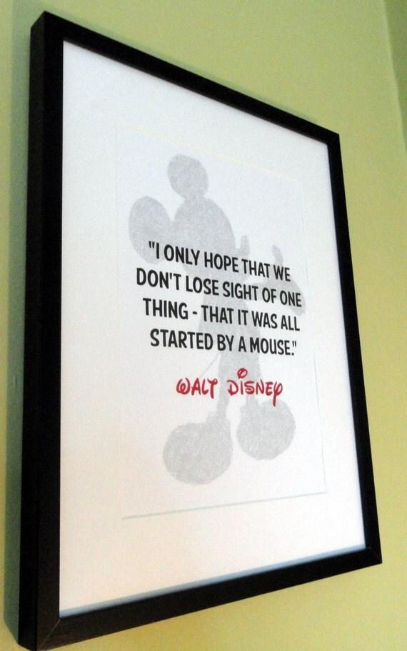walt disney mickey mouse quote print