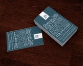 Premade Customized Business Card - typography clean and professional