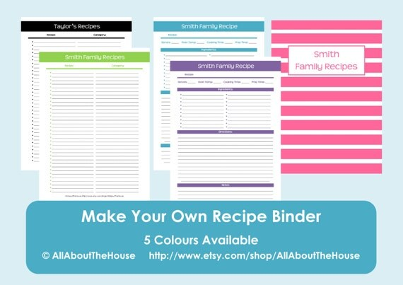 template for recipes full page