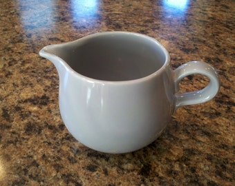 Homer Laughlin gray Rhythm creamer in excellent condition