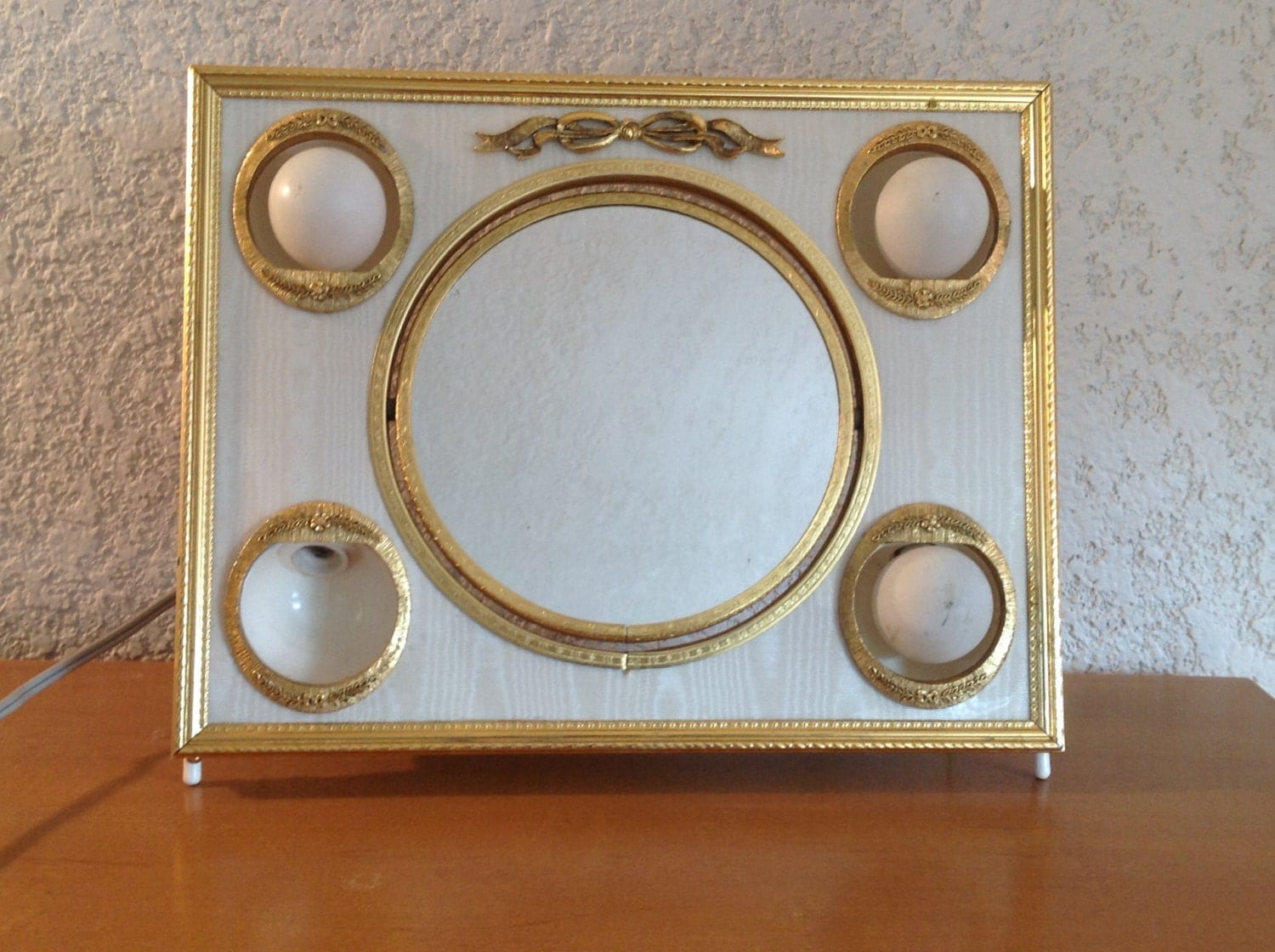 Vanity Mirror With Lights Etsy : Vintage Matson Vanity Mirror with lighted frame. Ornate gold