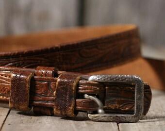 Vintage Leather Brown Belt