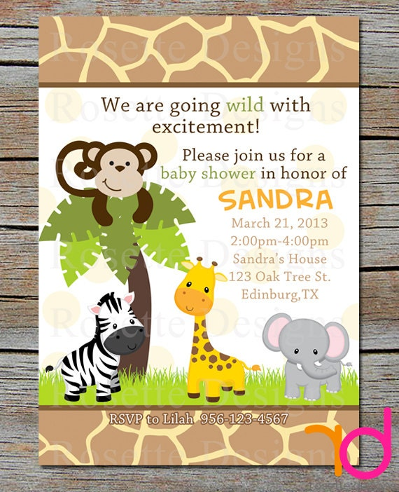 Monkey Themed Invitations as adorable invitations layout