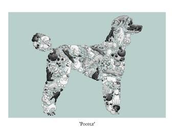 Dog Lover Gift - Poodle Art Print, Signed