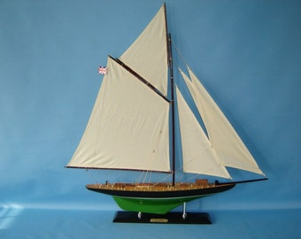 "Decorative Model Racing Yacht 35"" ""Atlanta"" Sailing Boat Models / j class model yachts / racing sloops"