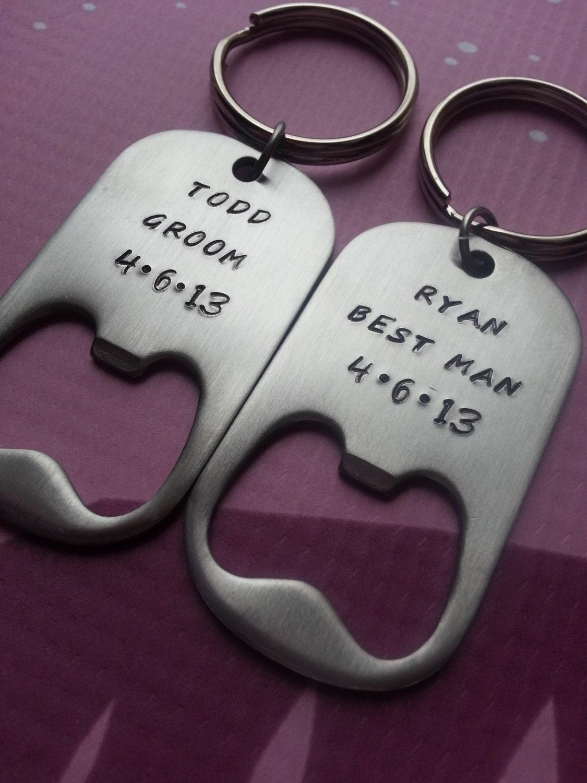 personalized bottle opener keychain wedding best man. Black Bedroom Furniture Sets. Home Design Ideas