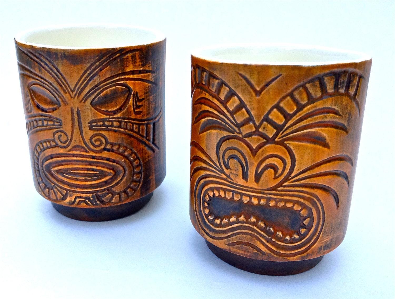 vintage tiki mugs glasses retro barware sake cups