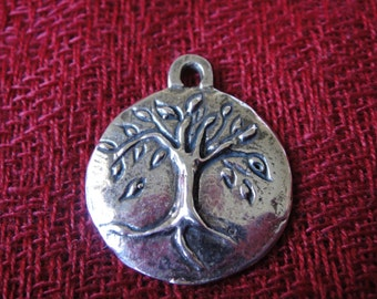 925 sterling silver oxidized tree of life charm, tree of life charm or pendant, tree of life